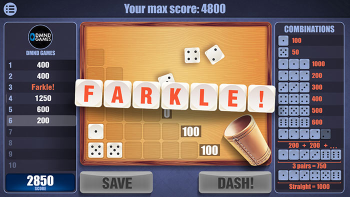 Farkle Master Tips - Avoid 3 farkles in a row
